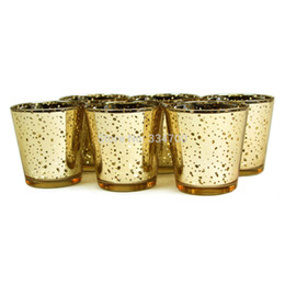 Wholesale Glass Candle Bowls - Wholesale-New!Buy 2 lots 15% discount! Glass Gold Mercury Wedding Party Votive candle holder USD33.00 for 12pcs Each USD2.75