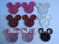 Wholesale Flat Back Flower Beads - Wholesale-Enough Stock 33MM Mixed Color Resin Flatback Cabochon Flowers,Wholesale 100PCS Mickey Mouse Flat Back Rhinestone Cabochon Beads