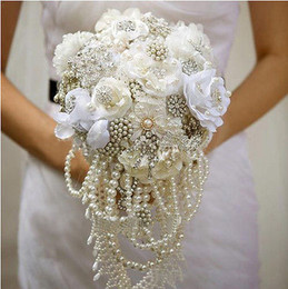 Wholesale Wedding Bouquets Beads - Wholesale-50Ft Colorful 6MM Pearl Bead Garland Spool Rope Wedding Centerpiece Decor