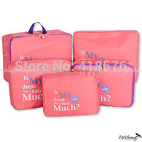 Wholesale Storage Cases For Clothes - Wholesale-2015 Ver.2 Portable Travel Organizer Bag Clothes Pouch Portable Suitcase Luggage Storage Case For Underwear organizer Drawer New