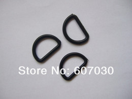 Wholesale Plastic D Rings - Wholesale-200 Pcs 1 inch ( 25mm ) Black Plastic Dee Rings For Webbing Strapping D Rings