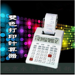 Wholesale Free Tax - Wholesale-P23-DHV G tax calculator solid color print, printing calculator green light LED screen top quality free shipping