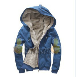 Wholesale Warm Villus - Wholesale-Free Shipping New 2015 100% Cotton Men's Casual Villus Inside Upset Warm Hoody Men Coat
