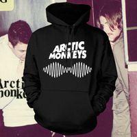 monos de roca al por mayor-Al por mayor-Arctic Monkeys Am Logo Soundwave con capucha Top Music Band Rock Punk Pullover con capucha Hoodie Hood Sweat shirt Top