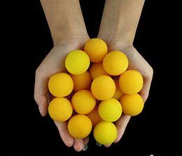 Wholesale Sponge Magic 11 - Wholesale-3.5cm 50pcs lot Soft Sponge ball (yellow) - trick, Free shipping, card magic,Fire magic Magic trick classic toys