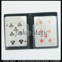 Wholesale Trick Wallet - Wholesale-Free shipping,Magic cards summ Optical melt wallet with magnet with best quality magic trick,20pcs lot,for magic props,wholesale