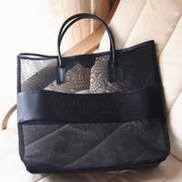 Wholesale Designer Items - Wholesale-Freee shipping designer brand large transparent cosmetic bag fashion shoulder bag beach bag women necessaire handbag items CB17