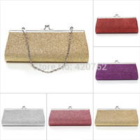 Wholesale Long Ladies Small Shoulder Bag - Wholesale-Party Bags Lady Powder Small Long Evening Clutch Bag Wallets Cosmetic Tote Shoulder Handbag