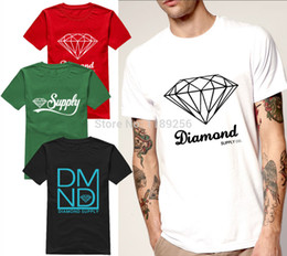 wholesale summer fashion diamond supply co mens t shirts black white cool diamond supply tshirt unique design short sleeve man top