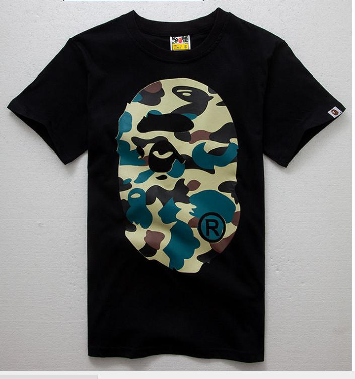 bba0f969 Men's Aape Bape Cotton Tee A Bathing Ape Shark Jaw Head T Bape Tee:  Wholesale Tee Bape Camo Military Bape T Shirt Tees Bape T
