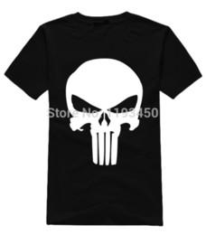 Wholesale Bad Meets Evil - Wholesale-Fashion Men T Shirts Punisher Skull tshirt Male 100% Cotton Short-sleeve t-shirts Bad Meets Evil Unique Customized Shirts