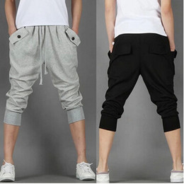 Wholesale Cotton Collapse - Wholesale-Mma Shorts Direct Selling Mid Broadcloth Beach Bermuda Summer New Men's Sports Shorts Loose Collapse 7 Minutes Breeches