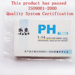 Wholesale Ph Indicator Paper - Wholesale-HOT 50Pack LOT 80 pH MetersPH Test strips Indicator Test Strips 1-14 Paper Litmus Tester Urine & Saliva S561
