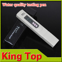 Wholesale Tds Test Pen - Wholesale-Water quality PH tester pen portable water test meter for water conductivity electrolyte purity TDS value test pen instrument