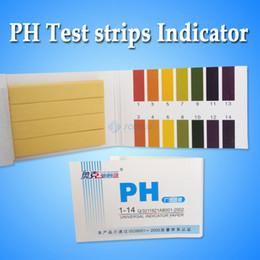 Tiras de prueba de ph online-Wholesale-50Pack / LOT 80 pH Meters PH Test tiras Indicador Tiras de Prueba 1-14 Paper Litmus Tester Saliva de la orina Envío gratis