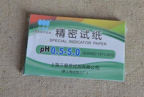 Gros-gros haute qualité précision papier PH pour aquarium PH0.5-5 testeur d'eau 50pcs / lot peut choisir 0.5-13