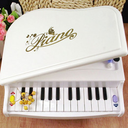 Wholesale Machines For Keys - Wholesale-14 Keys White High-Simulation Portfolio Folded Learning Machine Toys Small and Cute Change Color Piano for Baby Children Kids