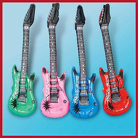 Wholesale Inflatable Guitars For Kids - Wholesale-Cheapest dollarpie Inflatable Blow up Guitar For Kids Play Toy Party Props Worldwide free shipping 2015 Big Promotion