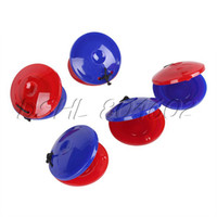 Wholesale Infant Castanets - Wholesale-5pcs Red Blue Baby Infant Round Castanet Musical Instrument Toy Great Gift