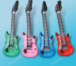 Wholesale Inflatable Guitars For Kids - Wholesale-dollarcode Inflatable Blow up Guitar For Kids Play Toy Party Props High Quality