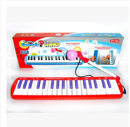 Wholesale Electronic Piano Toy Microphone - Wholesale-2015 New Children's Products Electronic keyboards music piano 37 keys with a microphone early childhood educational toys