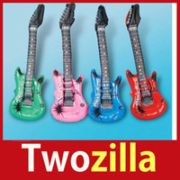 Wholesale Inflatable Guitars For Kids - Wholesale-store specials [Twozilla] Inflatable Blow up Guitar For Kids Play Toy Party Props Hot cheap ! big discount