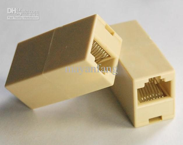 2018 Rj45 Cat5 Cable F To F Connector Plug Joiner Coupler High ...