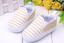 полосатые кроссовки Скидка Wholesale-Kids Toddler Baby Unisex Boys Girls Striped Anti-Slip Sneakers Soft Bottom Shoes For Freeshipping