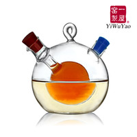 Wholesale Vinegar Cruets - Wholesale-Kitchen supplies oil and vinegar bottle oiler soy sauce and vinegar cruet glass bottle seasoning bottle seal leak