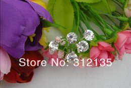 Wholesale Cheap Wedding Items Wholesale - Wholesale-Free Shipping Fashion Cheap Bridal Shining Crystal Wedding Hair Pin Silver Plating Hairpin 7*0.8*0.8cm Mixed Items 200pcs Lot