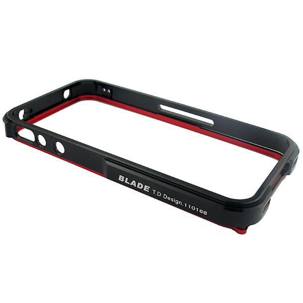 BLADE T.D Design Metal aluminum Bumper frame Case for iphone 4 4g NEW Red/black