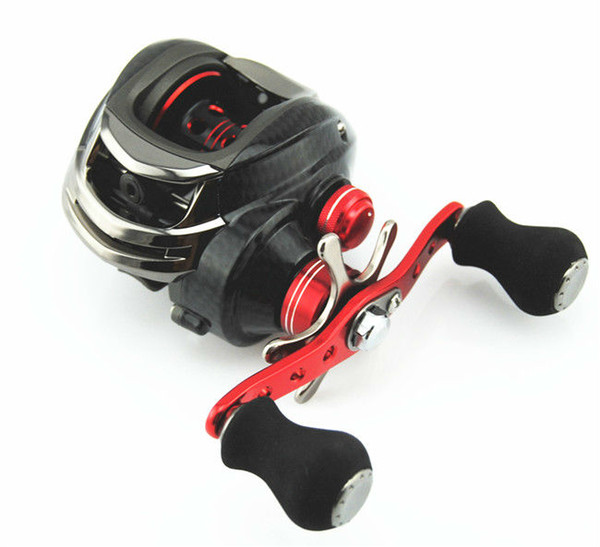 Wholesale-Free Shipping Left-handed Bait Casting Reel DM -120LA -BR 10+1 Ball Bearings Aluminum Spool First Choice of the Lure Fishing
