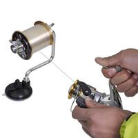 carrete giratorio de aluminio al por mayor-Al por mayor-Portátil de aluminio línea de pesca Winder Setline Spinning carrete al aire libre Spooler Winding conveniente sistema de trastos