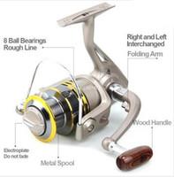 Wholesale Reel Spinning - Wholesale-New S-Fishing Reels YOMORES aluminum spool spinning reel 8BB GS1000 - 7000 series fishing reels saltwater fish ratio 5.5:1