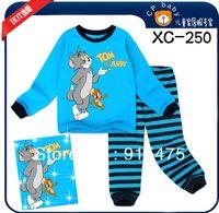 Wholesale Tom Jerry Pajamas Kids - Wholesale-2015 6sets lot, children pajamas,baby kids pyjamas, TOM and Jerry boys sleepwear Free Shipping ,XC-247