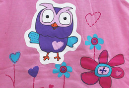 Wholesale Hoot Girls - Wholesale-Free shipping! Giggle and Hoot girl girls kids t shirt + skirt outfit clothing set suits 5pcs lot