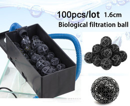 Wholesale Fish Ponds Filter - Wholesale-fish tank Aquariums Accessories 18mm Biological Bio Balls Aquarium Pond Fish Nano Tank Wet Dry Canister Filter Media 100pcs lot