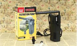 Filtros de esponja on-line-Atacado-Multifunction 7W 220-240V ABS Air Pump com Aquarium Sponge Filter para Fish Tank
