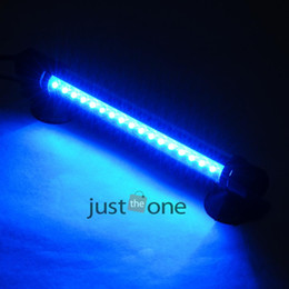 Wholesale Fish Grow Light - Wholesale-New 37 cm 42 Led White & Blue & RGB Color Aquarium Clip Lamp Led Light For Fish Tank Plant Grow