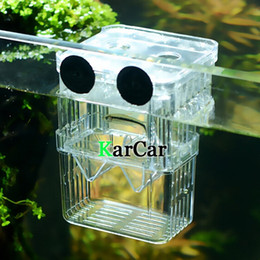 Wholesale Hatching Fish - Wholesale-S Size Aquarium Fish Tank Isolation Suspension Hatching Box, Acrylic Breeding Accessories Boxes Double Layers Young Fish
