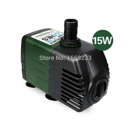 water fountains pump Promo Codes - Wholesale-Hydroponic systems Silent Submersible Water Pump Aquarium accessories for Fish Tank Rockery Fountain Pond Pump 220V 15W 1800 L H