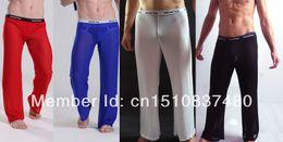 $enCountryForm.capitalKeyWord Canada - Wholesale-mens long johns man male sexy underwear men gay transparent mesh see-through penis long pants trousers gym sports long johns