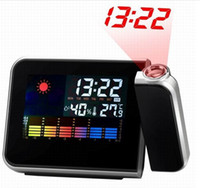 Wholesale Temperature Projection Humidity Clock - Wholesale-Hot Sale Digital Weather Temperature Humidity Wall Projection Alarm Clock LED Display