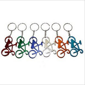 Wholesale-Lots of 18 pieces of Metal Bike Keychain bottle opener Bicycle in 6 colors