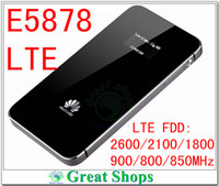 Wholesale Huawei Unlocked Routers - Wholesale-unlocked huawei e5878 mifi lte e5878s-32 4g wifi router fdd lte 800 4g dongle hotspot 4g packet wifi pk e5776 e589 e5372 b593