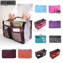 Wholesale Organizer Travel Handbags - Wholesale-traveling brand Cosmetic Bag in Bag Double Zipper Portable Multifunctional Travel Pockets Handbag organizer makeup bag Storage
