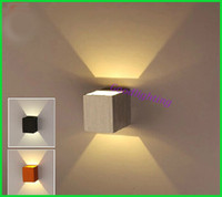 Wholesale Wall Mount Led Spot Light - Wholesale-Wall Mounted 1x3W led wall lamp led light decoration modern home light up and down led spot light AC85-265V