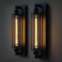 Wholesale w Loft Industrial Vintage Edison Wall Light Lamp For Home Wall Sconce Metal Frame Factory Feature