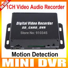 Wholesale Dvr Mini Sd 1ch - Wholesale-1CH Mini DVR CCTV Camera Audio Video SD Card DVR CCTV Recorder Motion Detection DVR Recorder