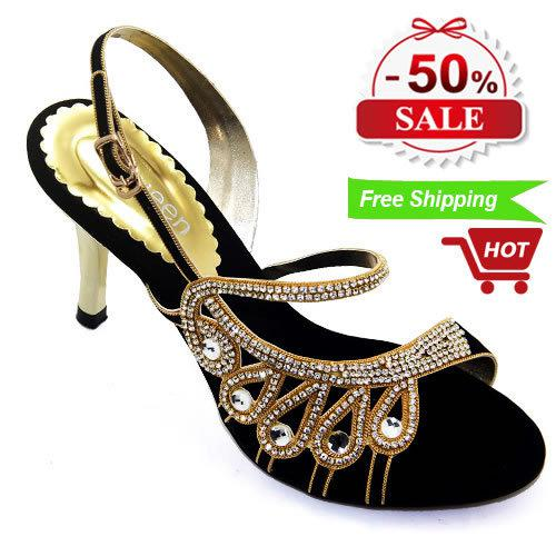 e4f96b5ff79 Wholesale-Pakistan Brand Designers Womens Sandals High Heels Summer Style  2015 Rhinestone Ladies Shoes Party Elegant Woman Black Sandals Online with  ...
